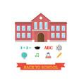 back to school concept school building with icon vector image