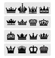 black crowns vector image