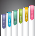 Bookmark Labels Arrow vector image