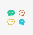 chat app speech logotype type bubble vector image
