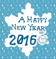 Hand drawn Sketch design of happy new year 2016 vector image