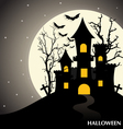 Happy Halloween design background vector image