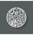pizza design element vector image
