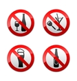 Set prohibited signs - dont drinks vector image