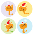 set with kittens vector image