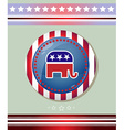 Usa Republican Party Elephant Symbol Banner vector image