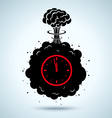 war clock vector image