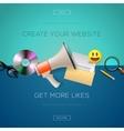 Web design content create your website vector image