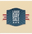 Labor Day Sale greeting paper Emblem vector image