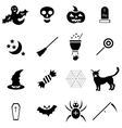 Halloween icons set in simple style vector image