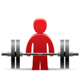 bodybuilder and weight vector image vector image