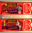 circus tickets vector image