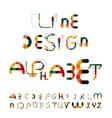 Minimal line design alphabet font typeface vector image