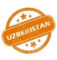 Uzbekistan grunge icon vector image