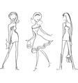 fashion girl6 vector image vector image