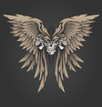 Three Skulls with Wings vector image