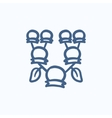 Family tree sketch icon vector image