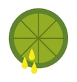 lemon juice isolated icon design vector image