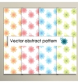 Colorful abstract flowers on a white background vector image