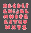 pink alphabet valentine s set hand drawn elements vector image