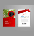 red ribbon annual report cover vector image
