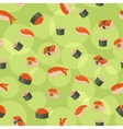 seamless sushi vector image