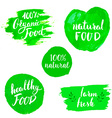 Set of Eco healthy Food labels vector image