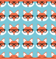 smart cartoon foxes vector image