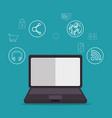 social media concept laptop vector image