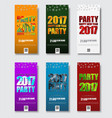 template flyer for christmas party 2017 vector image
