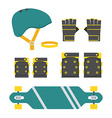 Skateboarder Protection Set vector image
