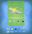 Weather widget template 5 vector image