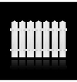 White fence tile vector image