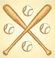Baseball Bat Ball vector image
