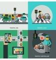 Traffic Concept Set vector image