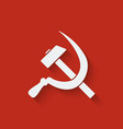 hammer and sickle symbol vector image
