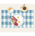 Breakfast Table setting vector image