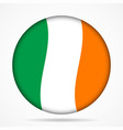button with waving flag of Ireland vector image