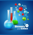 Chemical Science and discovery vector image