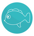 cute ornamental fish icon vector image