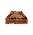 empty wooden box vector image