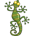 green gecko lizard vector image