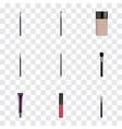 realistic day creme eye paintbrush cosmetic vector image