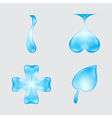 set of abstract waters designs vector image
