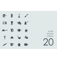 Set of kitchen utensils icons vector image