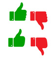 set of thumb up icons vector image