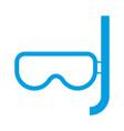 snorkel mask icon vector image