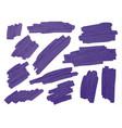 violet brush stoke texture on white background vector image