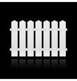 White fence tile vector image