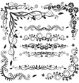 floral corners and borders vector image